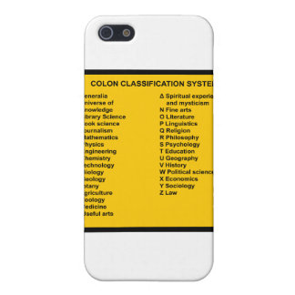 Colon Classification System by Letter iPhone 5 Cover