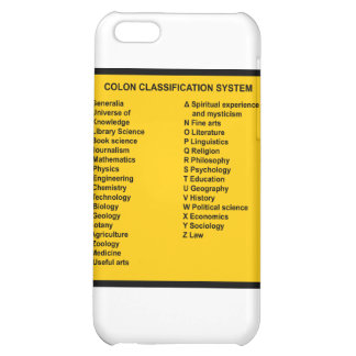 Colon Classification System by Letter iPhone 5C Covers