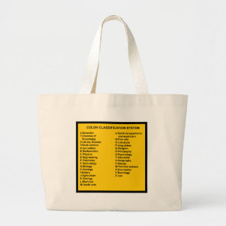 Colon Classification System by Letter Large Tote Bag