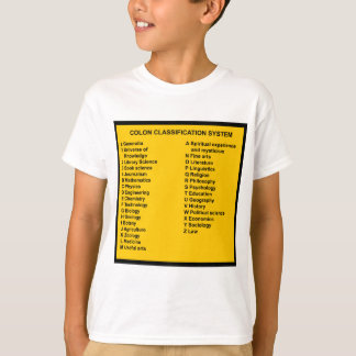 Colon Classification System by Letter T-Shirt