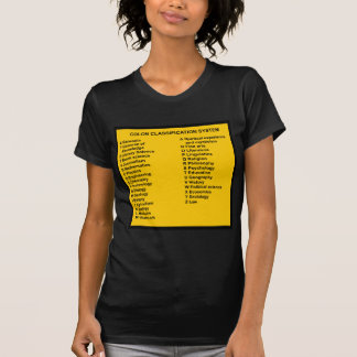 Colon Classification System by Letter T Shirt