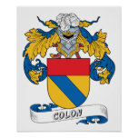 Colon Family Crest Poster
