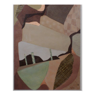 Colonel 1 Abstract Painting Poster