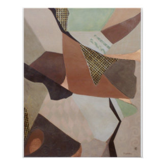 Colonel 2 Abstract Painting Poster