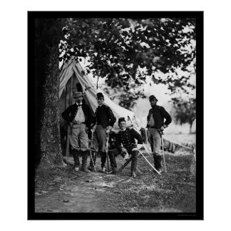 Colonel Averell & Staff at Westover Landing 1862 Poster