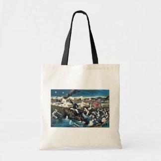 Colonel Awaya into a battle by Kasai,Torajirō Canvas Bag
