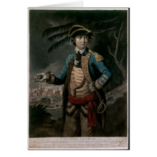 Colonel Benedict Arnold, pub. London, 1776 Greeting Cards