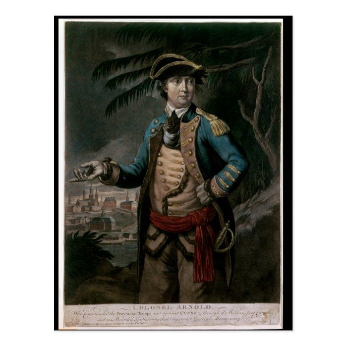 Colonel Benedict Arnold, pub. London, 1776 Postcard