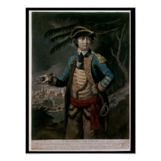 Colonel Benedict Arnold, pub. London, 1776 Poster