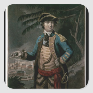 Colonel Benedict Arnold, pub. London, 1776 Square Sticker