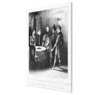Colonel Chabert, illustration 'Le Colonel Canvas Print