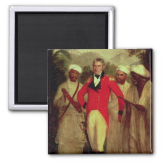 Colonel Colin Mackenzie and his Indian pandits 2 Inch Square Magnet