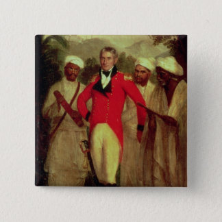 Colonel Colin Mackenzie and his Indian pandits Button