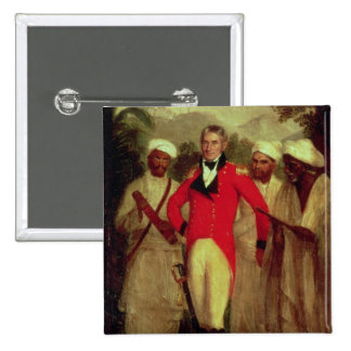 Colonel Colin Mackenzie and his Indian pandits Pinback Button