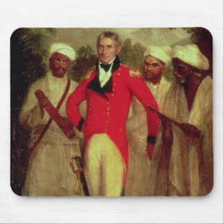 Colonel Colin Mackenzie and his Indian pandits Mouse Pad