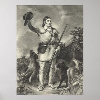 Colonel Davy Crockett 1839 Poster