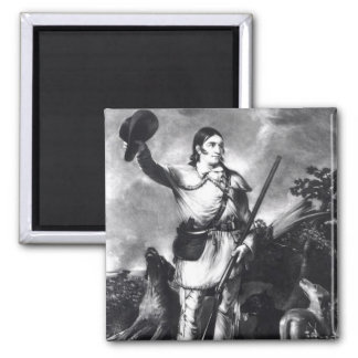 Colonel Davy Crockett 2 Inch Square Magnet