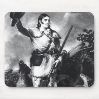 Colonel Davy Crockett Mouse Pad