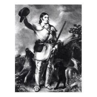 Colonel Davy Crockett Postcard