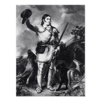Colonel Davy Crockett Print