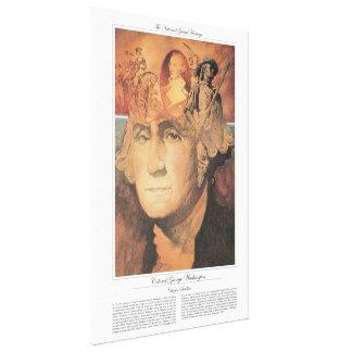 COLONEL GEORGE WASHINGTON Citizen Soldier Canvas Print