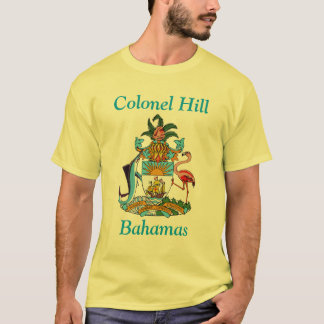 Colonel Hill, Bahamas with Coat of Arms T-Shirt