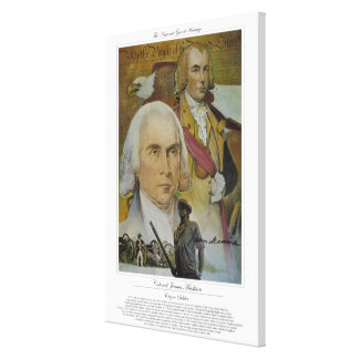 COLONEL JAMES MADISON Citizen Soldier Canvas Print