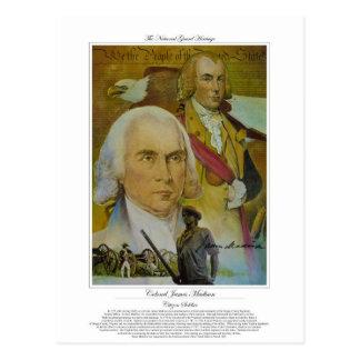 Colonel James Madison Citizen Soldier Postcard