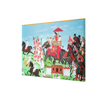 Colonel James Todd travelling by elephant Canvas Print