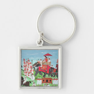 Colonel James Todd travelling by elephant Keychain