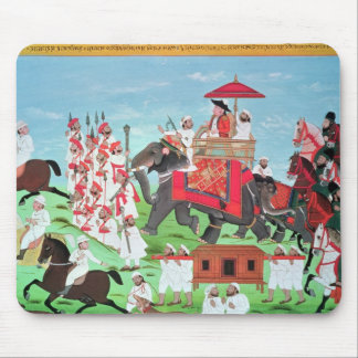 Colonel James Todd travelling by elephant Mousepad