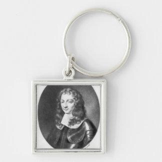 Colonel Penruddock  illustration Silver-Colored Square Keychain
