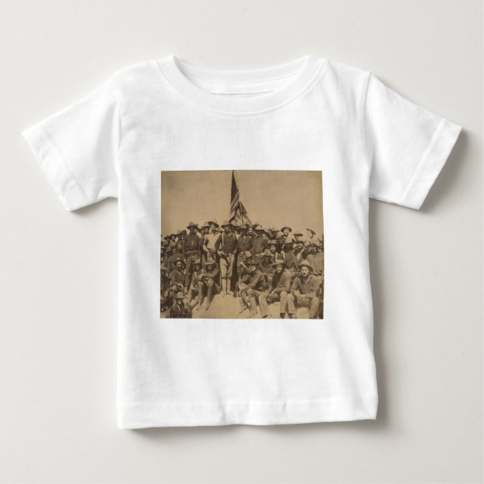 Colonel Roosevelt and his Rough Riders Baby T-Shirt
