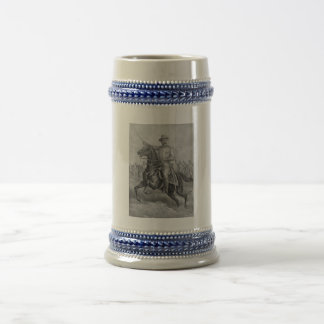 Colonel Roosevelt Leading Troops Beer Stein