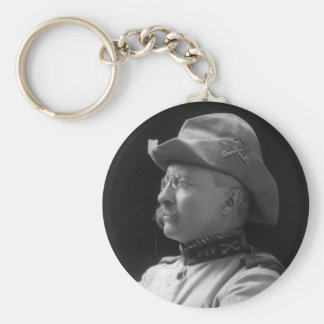 Colonel Theodore Roosevelt from 1898 Basic Round Button Keychain