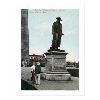 Colonel William Prescott Statue Scene Postcard