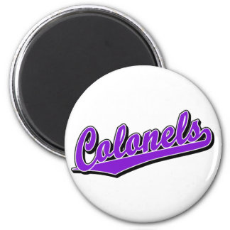 Colonels in Purple Fridge Magnets