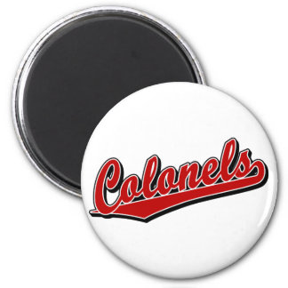 Colonels in Red Refrigerator Magnets