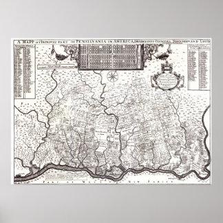 Colonia 1687 de Pennsylvania Póster