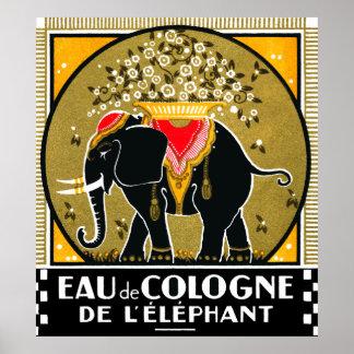 Colonia 1925 De L Elephant Poster