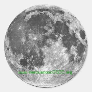 Colonia 2022 de la luna - Marcusmoon2022.org Pegatina Redonda