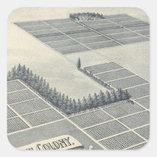 Colonia de Juan Brown Madera California Pegatinas Cuadradases Personalizadas