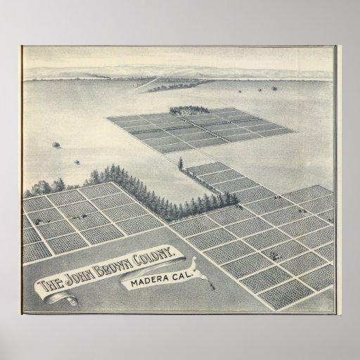 Colonia de Juan Brown, Madera, California Poster
