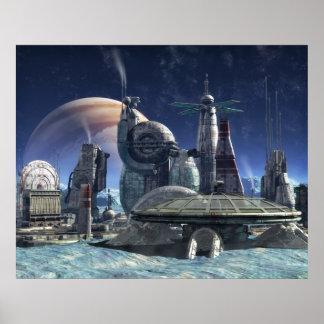 Colonia de la luna de Júpiter Póster