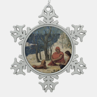 Colonia de Pedro Puvis de Chavannes- greek, Marsel Adorno De Peltre En Forma De Copo De Nieve