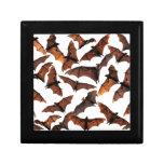 Colonia del zorro de vuelo de los palos de fruta e joyero cuadrado pequeño
