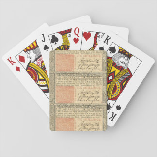 Colonial 1776 Six-Shilling Note Playing Cards