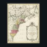 """Colonial America Map by Matthaus Lotter (1776) Canvas Print<br><div class=""""desc"""">Title Carte nouvelle de l&#39;Am&#233;rique angloise contenant tout ce que les Anglois poss&#233;dent sur le continent de l&#39;Am&#233;rique septentrionale savoir le Canada, la Nouvelle Ecosse ou Acadie, les treize provinces unies qui font: les quatres colonies de la Nouvelle Angleterre ... Contributor Names Lotter, Matth&#228;us Albrecht, 1741-1810. Created / Published Augsbourg...</div>"""