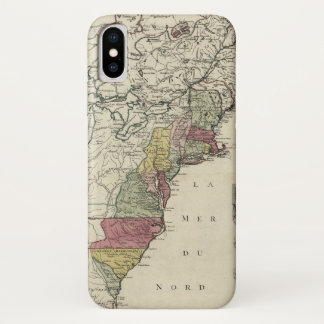 Colonial America Map by Matthaus Lotter (1776) iPhone X Case