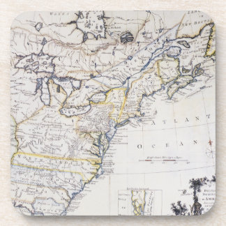 COLONIAL AMERICA: MAP, c1770 Drink Coaster